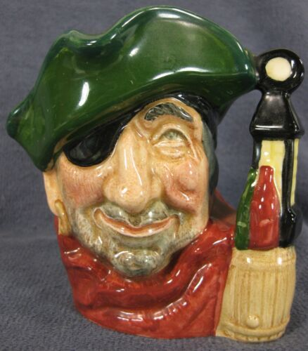 """The Smuggler D6619 Royal Doulton Character Toby Jug Small 4"""" 10cm"""