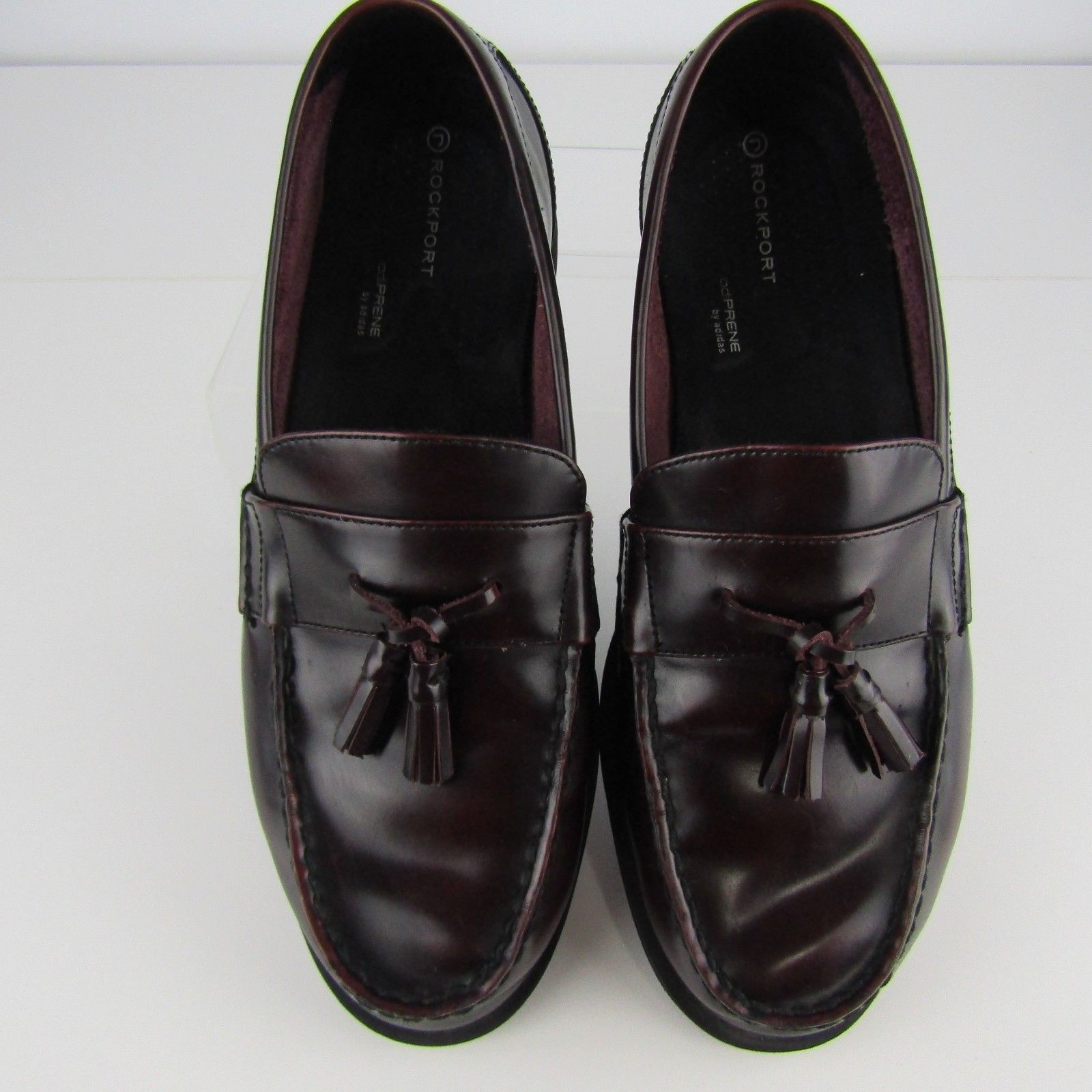 ROCKPORT LEATHER MEN'S Shoes Adiprene Adidas Brown 11.5 M Oxford Slip On Loafers