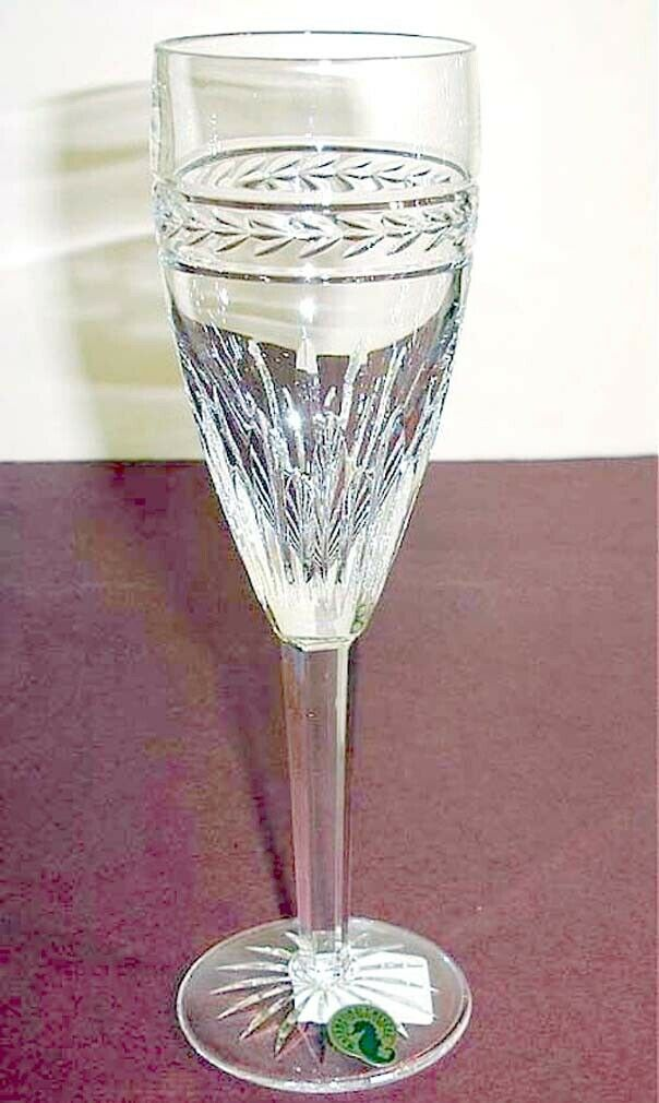 Primary image for Waterford Laurel Champagne Flute Crystal Made in Ireland #117888 New