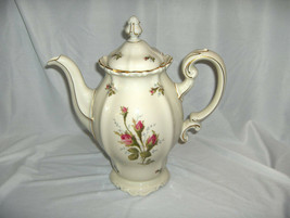 """Vintage Rosenthal China Pompadour Selb Germany 9"""" Coffee Pot & Lid 8 Cup... - $94.05"""