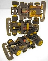 1 1991 TYCO TCR Yel Wheel Wide Slot less Car Chassis Unused Total Control Racing - $10.88