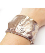 RLM STUDIO 925 Silver - Vintage Large Shiny Sculpted Design Cuff Bracele... - $233.84
