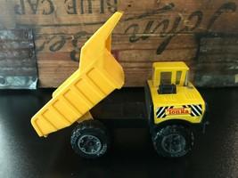 "Vintage Diecast Miniature Tonka Yellow Construction Small Toy Dump Truck 5 1/2"" - $29.02"