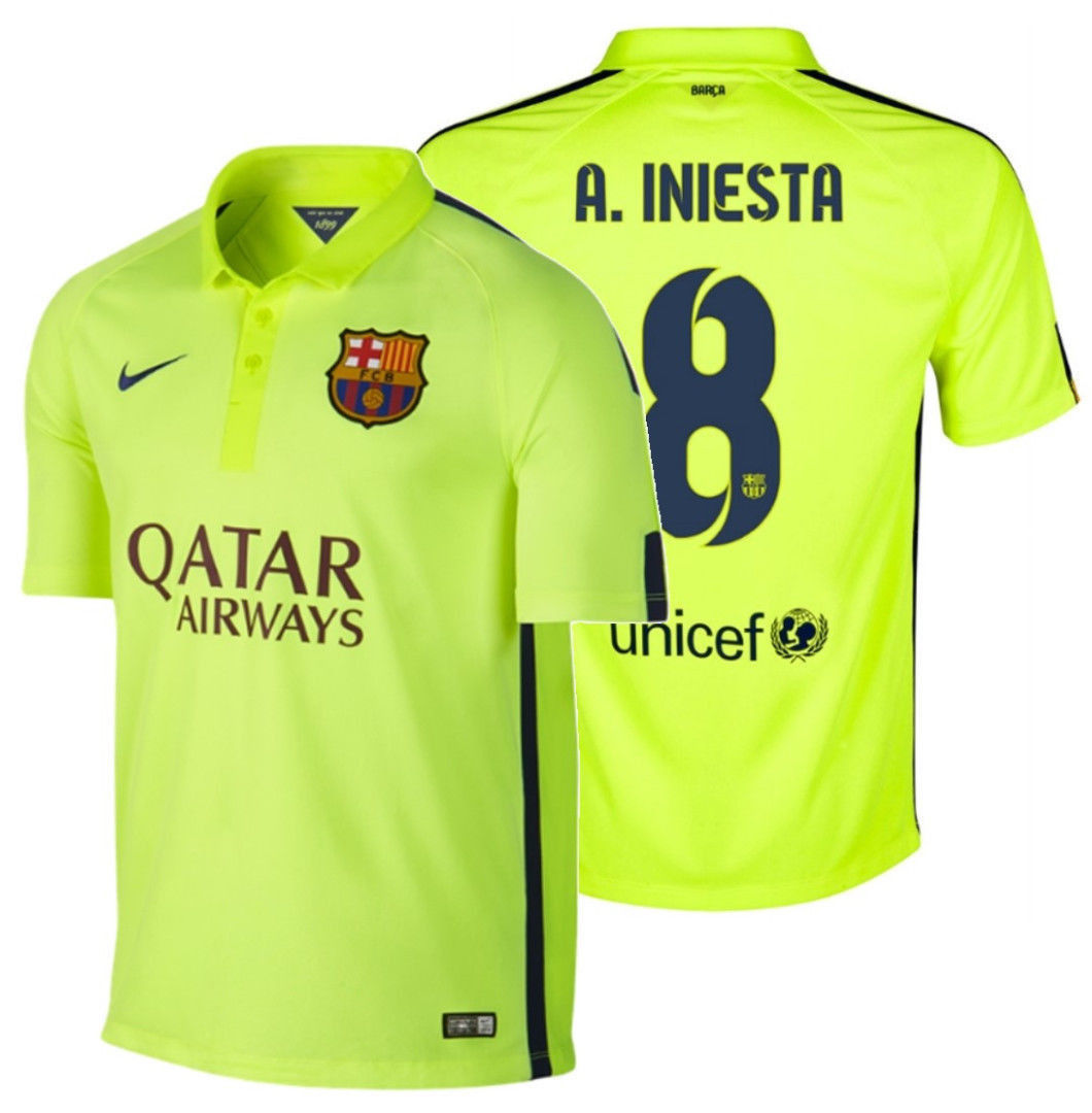 c3b8fccdf5abe5 Nike Andres Iniesta Fc Barcelona Third and 50 similar items. 57