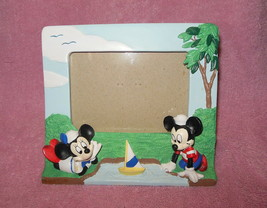 Disney Mickey And Minnie Mouse Sailors Hand Painted 3-D Photo Frame - $22.99