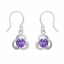 Free Shipping Wonderful Amethyst 925 Sterling Silver Earring Jewelry SHE... - $22.00