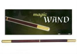 """PRO Magic Wand DELUXE 13.5"""" Brown Wood & Golden BRASS Tips MID SPLIT Hea... - $44.99"""