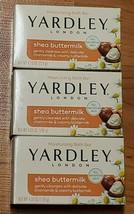 Yardley Soap Shea Buttermilk Moisturizing Bath Bar *New* 3 Bars Sensitive Skin - $4.50