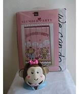 Pink Monkey Slumber Party Shower Curtain & Toothbrush Holder Set Sam Hed... - $19.99