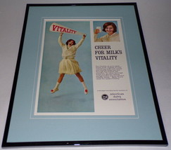 1966 American Dairy / Milk / Cheerleader 11x14 Framed ORIGINAL Advertise... - $46.39
