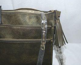 Simply Noelle Brand HB243 Black Metallic Color 3 Zipper Womens Purse image 9