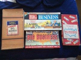 BIG BUSINESS a game Historical Archive 4 Versions 1937-1964 Fascinating !! - $44.44