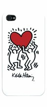 Case Scenario Keith Haring People & Heart iPhone 4/4S Protective Clip On case