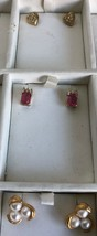 3 Pair Of Vintage Goldtone Earrings For Pierced Ears. - $6.25