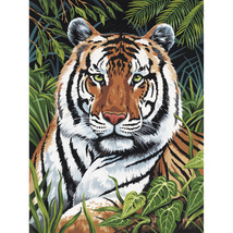"""Paint By Number Kit Artist Canvas Series 9""""X12""""-Tiger In Hiding - $13.12"""