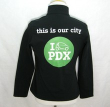 SMART CAR Portland Oregon Women's Black Rain Jacket (Size Medium) Fleece... - $16.95