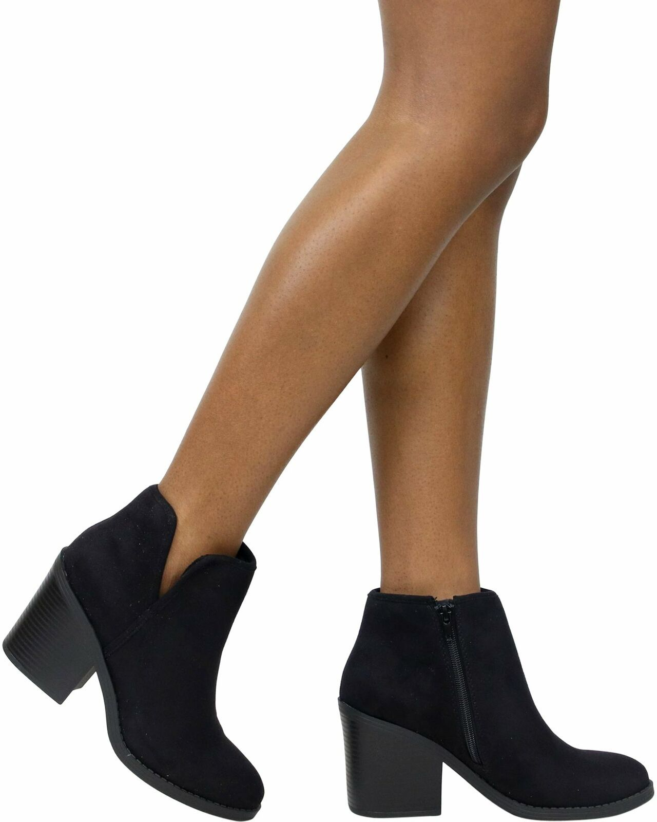 Soda Target Ankle Boot Black Suede Bootie size 10 Black  - $40.10