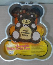 Wilton Huggable Teddy Bear Aluminum Cake Pan Mold 502-3754  - $27.93