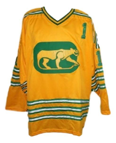 Dave dryden chicago cougars retro hockey jersey yellow   1