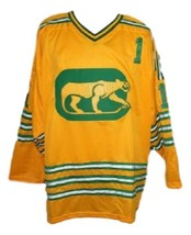 Dave Dryden #1 Chicago Cougars Retro Hockey Jersey New Yellow Any Size image 1