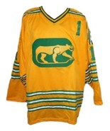 Dave Dryden #1 Chicago Cougars Retro Hockey Jersey New Yellow Any Size - $54.99+