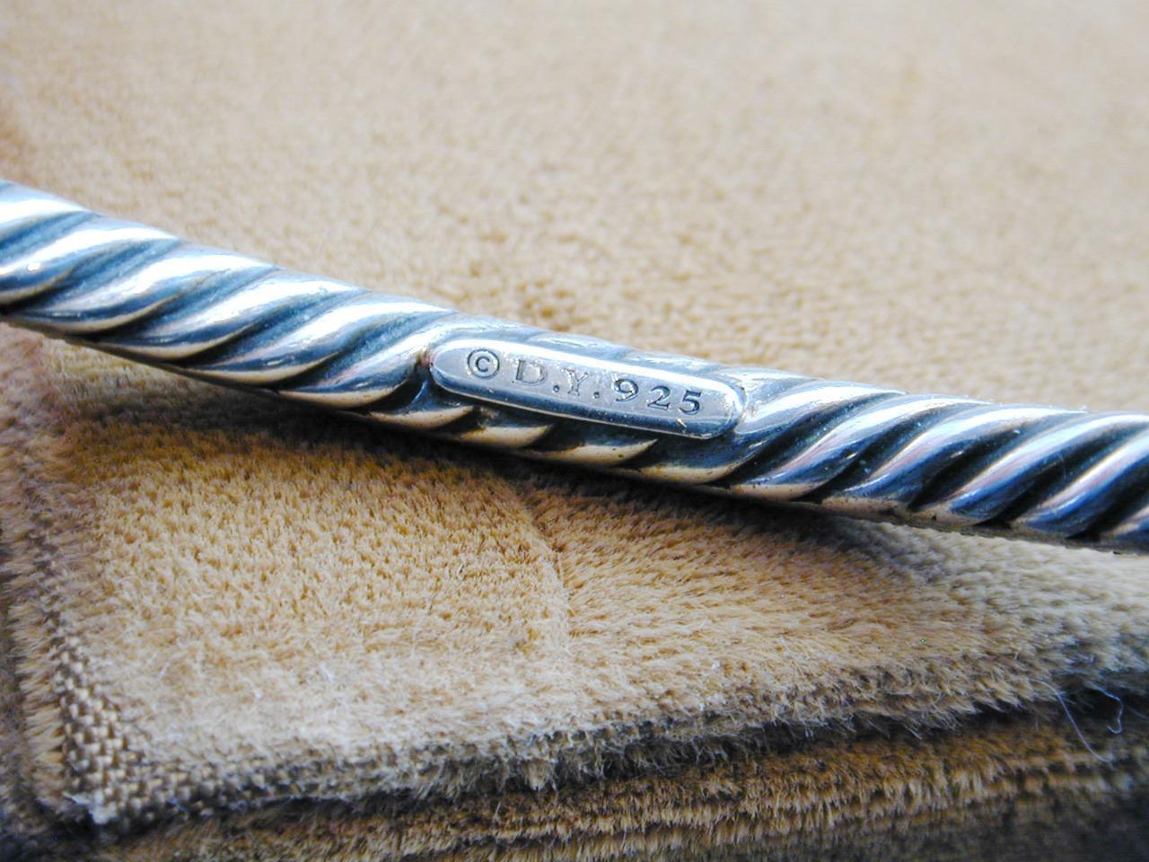 David Yurman Sterling Diamond Midnight Melange Bangle Bracelet RETIRED image 6