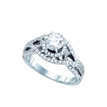 14K White Gold Round Diamond Woven Openwork Bridal Wedding Engagement Ri... - $1,709.00