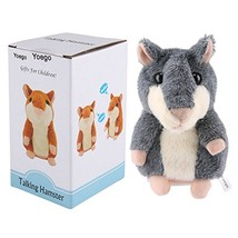 Yoego Cute Mimicry Pet Talking Hamster Repeats What You Say Plush Animal... - $20.75