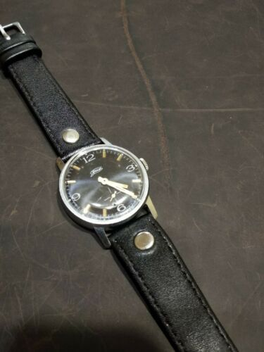 Watch Classic Black Dial Vintage ZIM Pobeda Square Men Retro Style Russian GIFT image 11