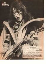 Kiss teen magazine pinup clipping Vintage 1980's Ace Frehley Rockline Make Up