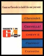 1964 Chevrolet Brochure Corvette Impala Bel Air Malibu - $11.40
