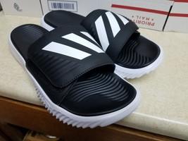 Adidas Alphabounce Slide Men's - Black White Sandals Size 11 - $46.46 CAD