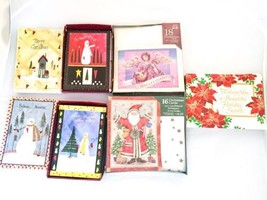 LOT OF 124 total HOLIDAY TIME CHRISTMAS CARDS With Envelopes UNUSED 7 De... - $18.49