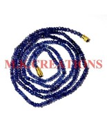 """Natural Iolite Gemstone 3-4mm Rondelle Faceted Beads 21"""" Long Beaded Nec... - $20.09"""