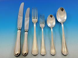 Filet by Broggi Italy Sterling Silver Flatware Set Service 37 pieces Dinner - $4,500.00