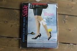 Vintage Nwt Silik Queen Größe Fußlos Strumpfhose mit / Capri Spitze Rot ... - $9.39
