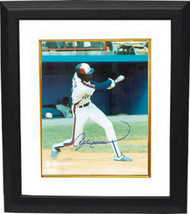 Andre Dawson signed Montreal Expos 8x10 Photo Custom Framed (swinging) - $99.95