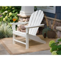 Outdoor Chair Furniture Classic White Plastic Weatherproof Patio Garden ... - $298.79