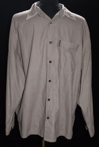 Weatherproof Button Front Shirt L Houndstooth Checked Brown Print Mens C... - $24.19