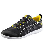 New PUMA FERRARI 11.5 US Techlo Everfit shoes sneakers black yellow mens - $96.99
