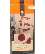 Halloween Bloody Blood Enter if you Dare Wall Art Mirror Clings Decorations - $5.00