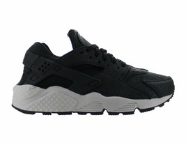 Womens Nike Air Huarache Run Premium Black Light Bone Dark Grey 683818-010 - $69.99