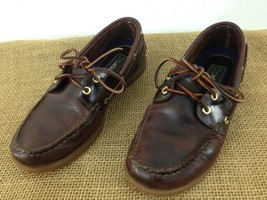 Timberland 72333 Womens sz 7 M Brown Leather 2 Eye Hiking Camp Boat Shoes - $12.87
