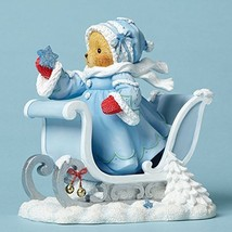 Enesco Cherished Teddies CollectionWhite Christmas Bear wSled - $63.71