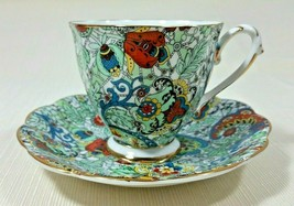 Vintage Royal Standard Bone China Tea Cup and Saucer Chintz Paisley Gold... - $94.99