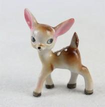 """Vintage 1950s 1960s Ceramic Hand Painted Deer Made in Japan 3-1/2"""" - $19.79"""