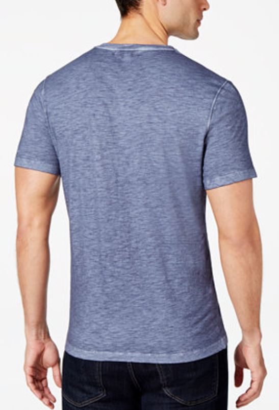 Micheal Kors Men's V-Neck Melange Cotton T-Shirt, Midnight, Size XXL, MSRP $69 image 2