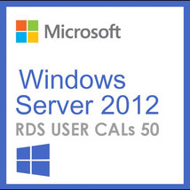 Windows Server 2012 Remote Desktop Services RDS USER CALs (50) - $49.99