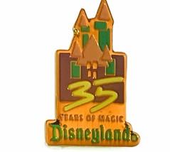 Walt Disney World pin button pinback souvenir Mickey Mouse vtg 35 years castle - $14.45