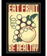 "Eat Fruit-Be Healthy.  Health & safety poster. 11x14"" canvas art print  Health   - $23.99"
